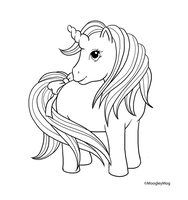 MLP Lineart 8 Unicorn by MoogleyMog
