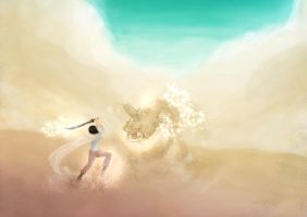 Fighting in the desert by Linheha