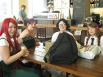 Cosplay in starbucks by RamenEatingPanda1997