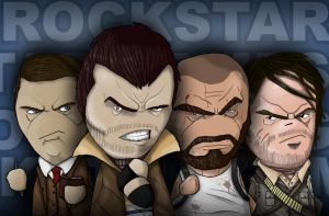 ROCKSTAR GAMES CHARACTERS by keyholestyle