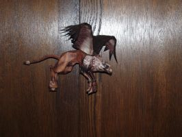 Papercraft American McGee's Alice's Gryphon by ohiohd