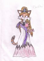 Cheddar in a fashionable dress by tails-sama