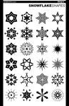 24 Abstract Snowflake Shapes by UnidentifyStudios