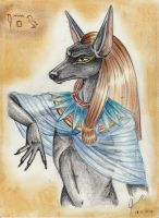 Egyptian God Anubis by SirLordAshram
