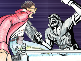 Travis Touchdown vs Jack Caymn by JorgeSantiagoJr