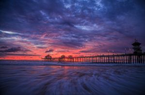 Huntington Beach Sunset by JJohnsonPhotography