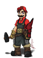 Mario: Dwarven Blacksmith by CoronaDiTempesta