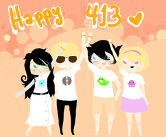 Happy 413! by Piyochuu