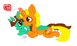 My girlfriend and I as ponies. by uhnevermind