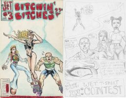 Bitchin Bitches 03 Cover+Pg 1 by jetcomics