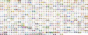 All Pokemon Sprites-With Shiny by o0TheForgotten0o
