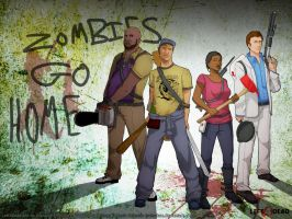 Zombies go home by rosiecoleman