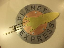 Planet Express Wall Hanging by creativeetching