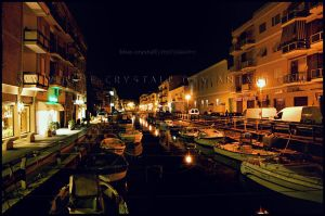 Terracina at night - II by blue-crystall