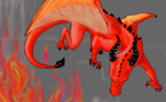 old England fire dragon by Water-Wolf