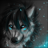 .:Blue Glow:. by WhiteSpiritWolf