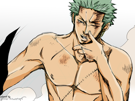 After the battle Zoro coloring by AnnaHiwatari
