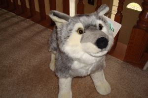 Ushuaia Junior plush standing wolf by Vesperwolfy87