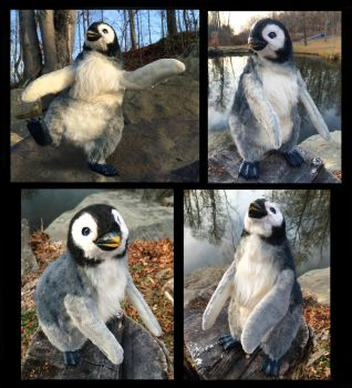 Baby Penguin Poseable Doll by Blazesnbreezes
