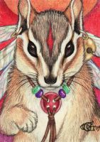 Little Guardian - ACEO by Goldenwolf