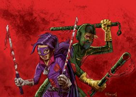 Kick-Ass and Hit-Girl by Manuz-Ise