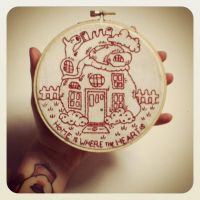 Home is Where embroidery by DarlingDeerest
