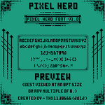 Pixel Hero Font [With Lower Case Letters] by THX1138666