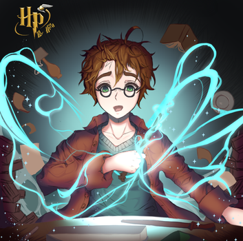 Harry Potter in the Ollivander's store [+Video!] by Hiro-Arts