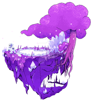 Lady Amalthea's Floating Island (Animated) by SmallSpiritGraphics