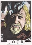 Sketchcards - LOTR - Theoden by hamdiggy