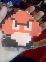 Classic Goomba papercraft by Deadlycreations