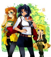 Gunsmith Cats Group shot commision by Qsan by Unidad26