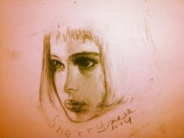 Mathilda's head sketch by WitchSh