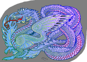Turquoise Dawn Dragon by trulymercury