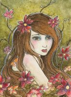 Flower Fairy - ACEO by KatrinaWinter
