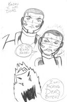 Doodle after playing Mass Effect 2 by SuperMeja