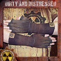 Long Grungy Fingerless Gloves by DirtyandDistressed