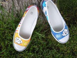Custom Painted Shoes by commissions-requests