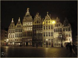 Antwerp at night by Buble
