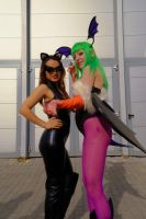 Morrigan Aensland and Kat by KillerGio