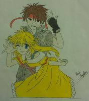 Orphen and Cleo by crystalSHINee4evr