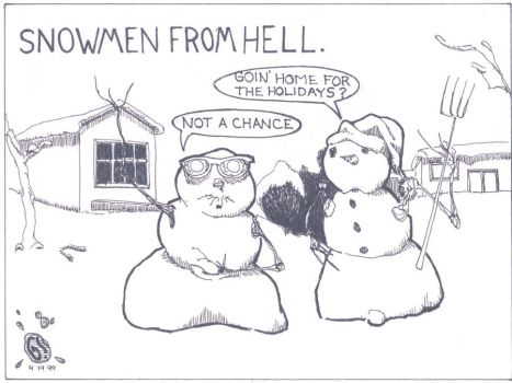 Snowmen from Hell by monstergun