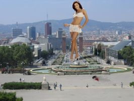 Eva Longoria in Barcelona by Accasbel