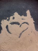 Sentiment in Sand by caelandrake