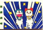 Doraemon and Dorami chibi : Head to the space by doraemonbasil