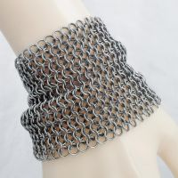 Wide Chain Mail Cuff Bracelet by Gone-Wishing