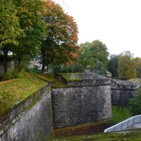 Autumn on the ramparts of the Nuremberg castle by andersvolker