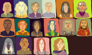 baldur's gate 2 portraits by spent-on-rainydays