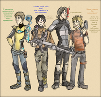 TeamFreeWill + Gabe cosplaying... Borderlands 2! by FiestaTB