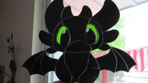 Toothless Stained Glass by captivefancy